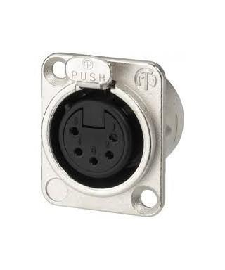 Panelový konektor XLR - 5 pin - samice
