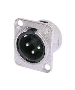 Panelový konektor XLR - 3 pin - samec