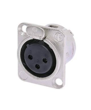 Panelový konektor XLR - 3 pin - samice