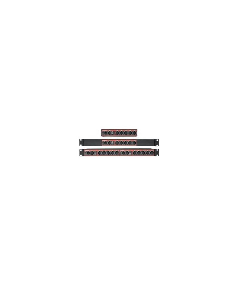 Swisson XSP - DMX Splitter mix 3/5pin XLR, Provedení double Rack, Konektory 2x XLR5 In - 2x XLR5 Through - 5x XLR5 + 5x XLR3 Out