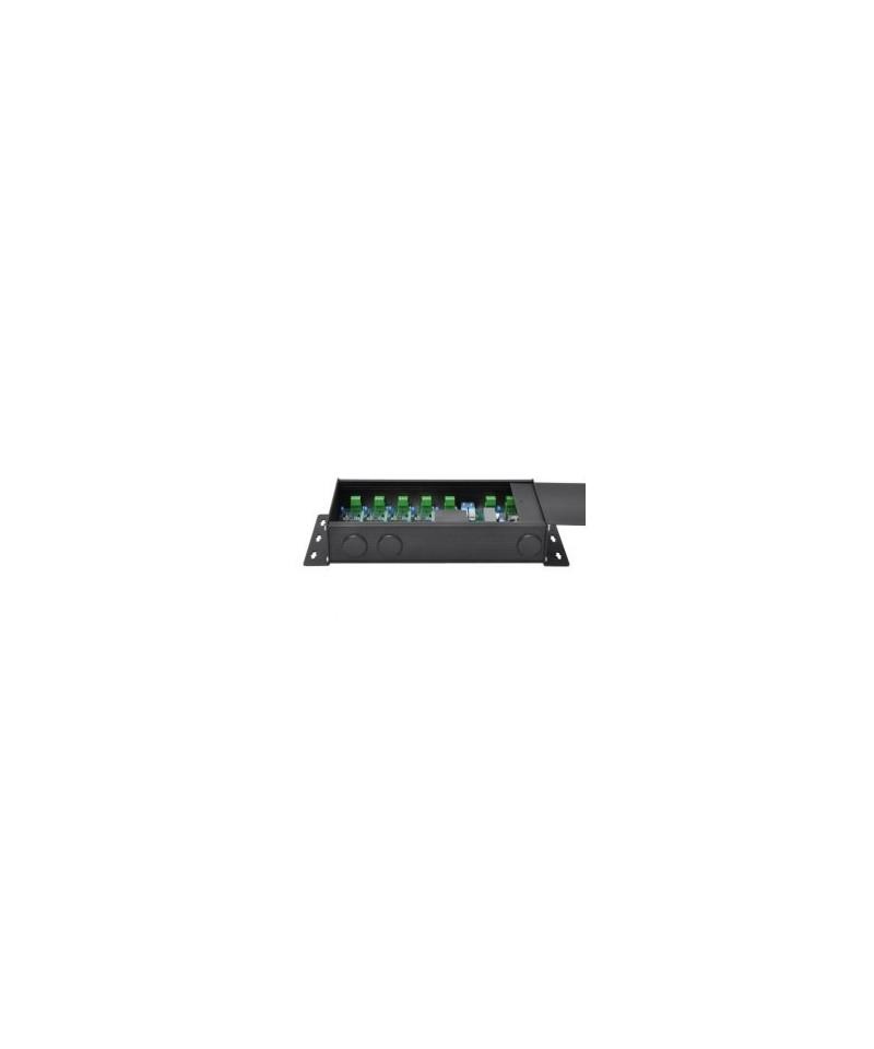 Swisson XSP - DMX Splitter Terminal, Provedení single Rack, Konektory 1x svorka In - 1x svorka Through - 5x svorka Out
