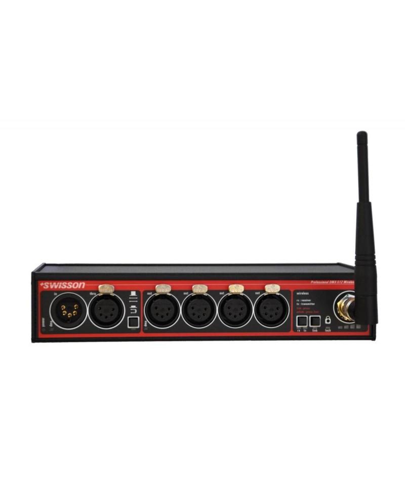 Swisson XSW - W-DMX Wireless DMX Splitter, Provedení Box, Konektory 1x XLR3 In - 1x XLR3 Through - 4x XLR3 Out - W-DMX (Wireless Solution)