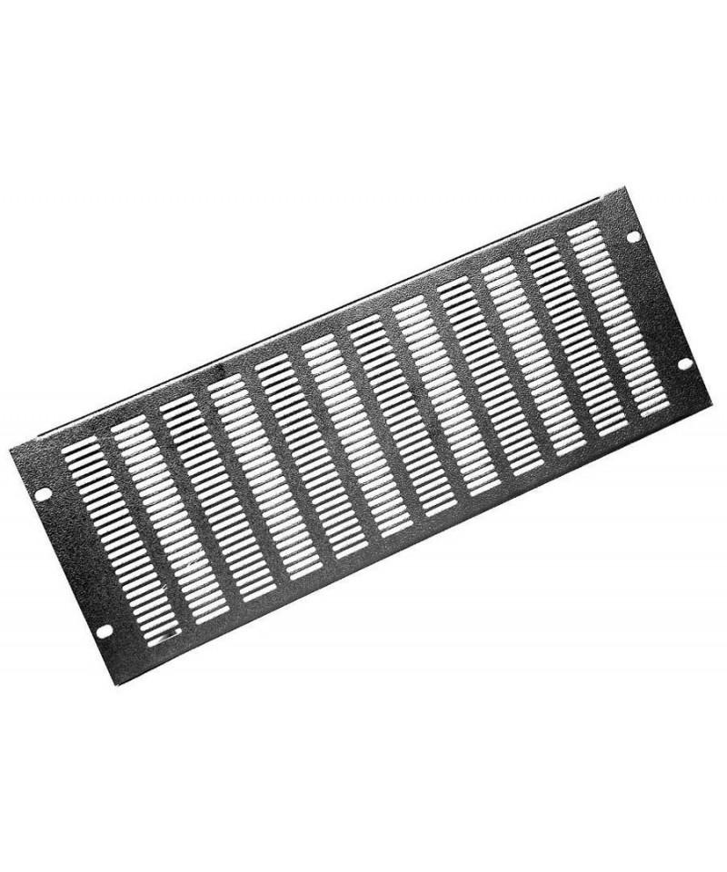 Amcorth Panel větrací s otvory 3×25 mm - hliník, Výška 3U
