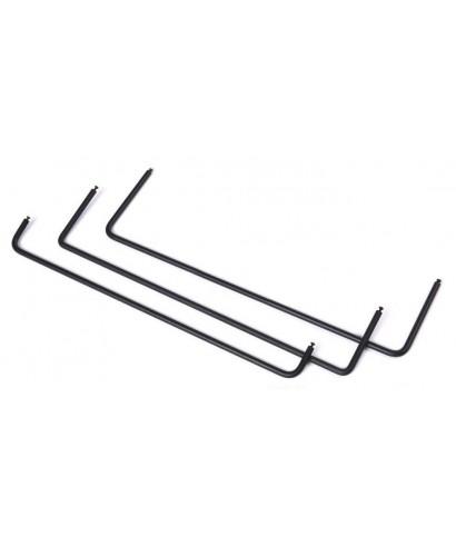 Tiebar - podpěra k rackovým panelům pro vyvázání kabelů
