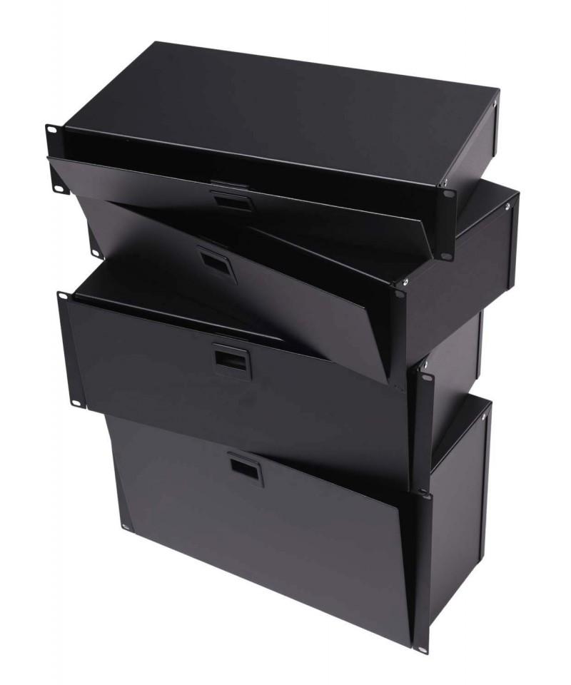 Amcorth Úložný box, hl. 250 mm, Výška 2U