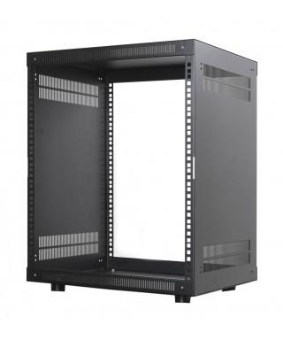 """Rack 19"""" - rovný - s větracími otvory - hl. 403 mm"""