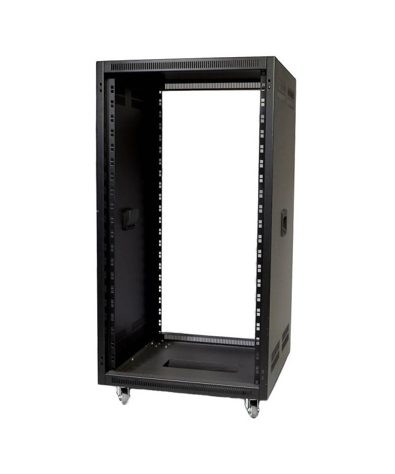 """Amcorth Rack 19"""" - rovný, s větracími otvory, rukojeti - hl. 566 mm, Výška 12U"""