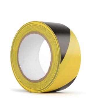 HAZARD WARNING PVC TAPE - černo/žlutá