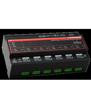 ISP-6R DMX & RDM DIN Rail Splitter