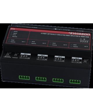 ISP-4R DMX & RDM DIN Rail Splitter
